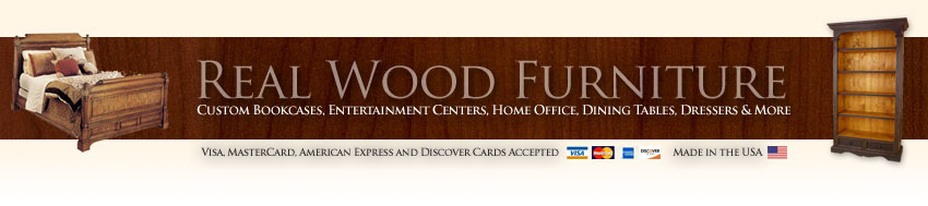 Unfinished and Finished Real Wood Furniture Manufacturers